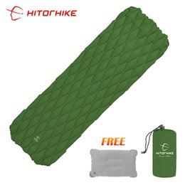 Wholesale Hitorhike Ultralight Inflatable Sleeping Pad Maress Outdoor Cushion Sleeping Bag Camping Mat for Outdoor Hiking Backpack Trave