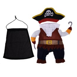 Discount cosplay six - medium Halloween Pet Clothes Suit Pirate Turned Put Cat Suit Small Medium Dog products for cats Pet Dress Toy Cosplay