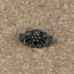 $enCountryForm.capitalKeyWord NZ - Charms flower connector 150Pcs  lots 8x16mm Antique bronze Alloy ewelry Fit Handmade Bracelets F-5