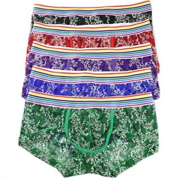 Back To Search Resultsunderwear & Sleepwears Bright Fashion Sexy Boxer Trunks Mens Soft Underpants Sexy Bulge Pouch Underwear Open Hip Male Sex Shorts