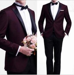Discount best party dress image man New Custom Made Two Button High quality Groom Tuxedos Best Man Suits Wedding Party Dress (Jacket+Pants)