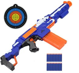 Nerf Guns Wholesale Australia - Electric Soft Bullet Toy Gun For nerf Shooting Submachine Gun Weapon Soft Bullet Bursts Gun Funny Outdoors Toys For Kid With Box