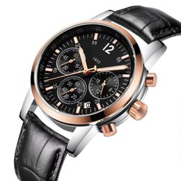 Quality Watch Brands For Men Australia - 2018 New Swiss Brand Luxury Watches for Men Quartz Mevement All Funtional Subdial Work AAA Quality Designer Watch Leather Strap Quartz Watch