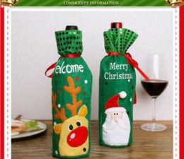 Wrapping Paper Gift Sets Australia - DHL Christmas decoration red wine bottle set elk snow man Santa Claus red wine bag Christmas champagne bottle set