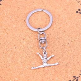 $enCountryForm.capitalKeyWord Australia - New Design gymnastics gymnast sporter Keychain Car Key Chain Key Ring silver pendant For Man Women Gift