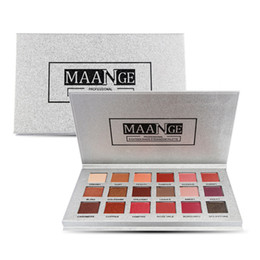 Silver makeup palette online shopping - new Makeup Brand MAANGE Colors Eyeshadow Palette Rose Gold Silver Matte Glitter Matallic Eye Shadow Powder Palette DHL shipping