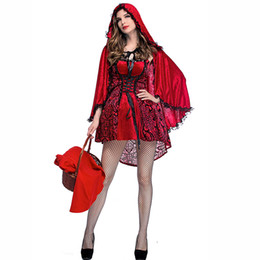 15abfc29c7267 Halloween Party Club Role Play Little Red Riding Hood Costume Women Sexy Costumes  Plus Size Cosplay Uniform Adult Fancy Dress