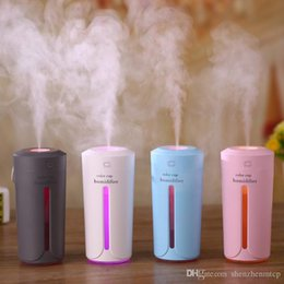 ElEctric aromathErapy diffusEr light online shopping - Ultrasonic Air Humidifier Essential Oil Diffuser With Color Lights Electric Aromatherapy USB Humidifier Car Aroma Diffuser