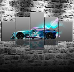 Super Figure Painting NZ - Infiniti Concept Super Abstract Flying Car -1,5 Pieces Canvas Prints Wall Art Oil Painting Home Decor (Unframed Framed)