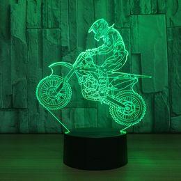 $enCountryForm.capitalKeyWord Canada - Mountain Cycling 3D LED Optical Illusion Lamp Night Light DC 5V USB Charging 5th Battery Wholesale Dropshipp Free Shipping