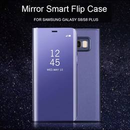 $enCountryForm.capitalKeyWord NZ - For Samsung S8 Clear Mirror Vertical Stand Mirror Cover Cell Phone PC Case For Samsung Galaxy S7  S7 Edge S8 S8 Plus Cover
