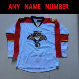Discount florida numbers - Florida Panther Hockey Jerseys Blank White Customied Jerseys Any Name Number Vintage S M L XL XXL XXXL