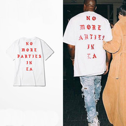 Kanye fashion online shopping - Summer Hip Hop Kanye West I Feel Like Paul Cotton Tshirts NO MORE PARTIES IN LA T SHIRTS Men Women Tee