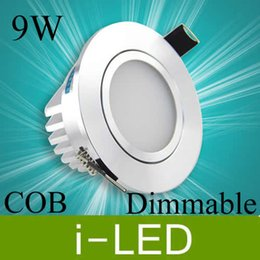 12v 9w Driver Australia - CREE cob 9w led downlight dimmable led fixture light lamp frosted cover AC110-240v 12V warm natural white 120angle +Driver CE UL