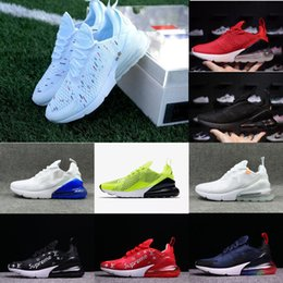 reputable site 2d7be efea5 2018 With box Nike Air Max 270 Airmax 270 Nouveautés Flair Triple Noir 270  AH8050 Formateur Sport Chaussures de Course Femmes Flair 270 Sneakers  Taille ...