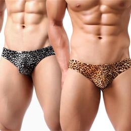 e68547b302 sexy leopard print panties 2018 - 2pcs Sexy Briefs Panties Mens Underwear  Low Rise Underpants Leopard