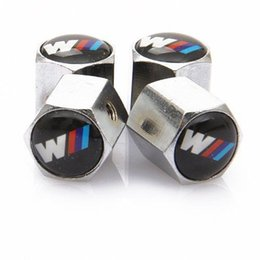 $enCountryForm.capitalKeyWord Australia - Theftproof Stainless Steel 4PCS Car Wheel Tire Valves Tyre Stem Air Caps Airtight Cover For BMW modifications-m