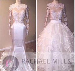 Discount Summer Beach Wedding Dresses For Guests With Detachable Skirt Sexy Illusion