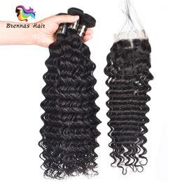$enCountryForm.capitalKeyWord Australia - top sale deep wave 100% human real hair extension machine double weft no shedding natural black color for black women