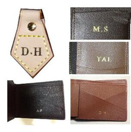 Wholesale customer order hot stamp hot stamping your initials on your bag or wallet