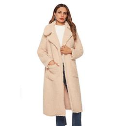 $enCountryForm.capitalKeyWord UK - 2018 Trending Products Fashion Coat Fur Winter For Women Lapel Neck Long Sleeve Ticker X-Long With Belt