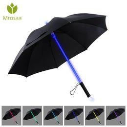 $enCountryForm.capitalKeyWord NZ - 7 Color LED Lightsaber Light Up Umbrella Laser sword Light up Golf Umbrellas Changing On the Shaft Built in Torch Flash Umbrella