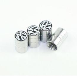 Toptan satış Araba Styling Lastik Vanalar Volkswagen vw polo passat b5 b6 Için kılıf Araba Styling 4 ADET / GRUP