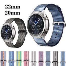 pebble steel band 2019 - watchband 22mm 20mm nylon for Samsung Gear sport S2 S3 Classic Frontier strap For Pebble Time Steel watch band huami ama