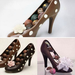 fondant mold shoes NZ - High Heel Shoes PC Chocolate Candy Mould Bundle 3D Molding Instructions Fondant Cake Mold for DIY Home Baking Moulds