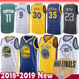 aacbbbfc0 Golden State Warriors 30 Stephen Curry 35 Kevin Durant Jersey 23 Draymond  Green 11 Klay Thompson 9 Andre lguodala 2018 Finals Bound Jerseys