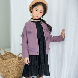 Girls Cardigans Pearls NZ - New Autumn Children Clothes Cute Girls Pearl Mesh Knit Sweater Coat Cardigan 2018 for Girls Clothing