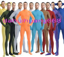 fancy grey dresses NZ - Unisex 23 Color Lycra Spandex Suit Catsuit Costumes Unisex Body Suit Costumes Outfit New Halloween Party Fancy Dress Cosplay Costumes DH004