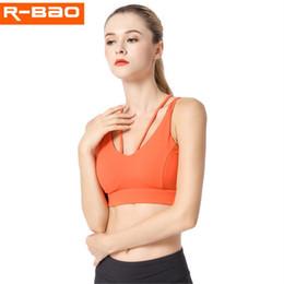 b83476edfd9f8 Women Push Up Sports Bras Top Shockproof Breathable Yoga Fitness Running  Nylon No Rims Double shoulder Sport Bra Underwear 1826