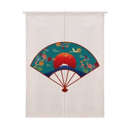 Chinese  Folding Fan Cartoon Dolphin Pattern Curtain Thickened Cotton Half Curtain Coffee Short for Window Kitchen Cabinet Door manufacturers