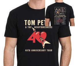 $enCountryForm.capitalKeyWord NZ - Tom Petty and the Heartbreakers Tour 2017 T-Shirt Men's Black Size:S-XXL Cotton Fashion Men T Shirt Print T-Shirt Summer Short Hiphop