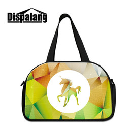 sports girl duffle bag Canada - Cute Unicorn Women's Travel Duffle Bag High Quality Canvas Portable Hand Overnight Bags For Students Cotton Sport Gym Shoulder Bag Luggage