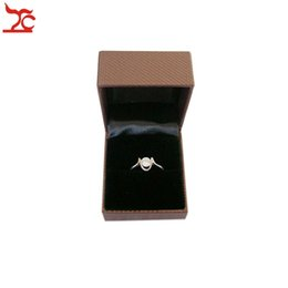 Ems packagEs online shopping - EMS FREE Jewelry Display and Packaging Ring Boxes Brown Leather Fancy Jewelry Necessary Storage Casket