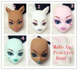 $enCountryForm.capitalKeyWord Canada - Soft Plastic Practice Makeup Doll Heads For Monster High Doll BJD Doll's Practicing Makeup Monster Head Without Hair