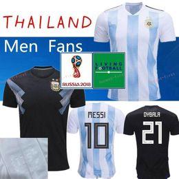 f4f34f418 2018 World Cup Argentina Soccer Jersey 10 MESSI KUN AGUERO MARADONA HIGUAIN  DI MARIA LAMELA GAGO 21 DYBALA MASCHERANO Custom Football Shirt