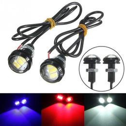 Vente en gros Nouveau 12 V 10 W 23 MM LED Eagle Eye Inverser lampe Moto Voiture Porte Intérieur Lumière Décorative Lumières DHL Livraison Gratuite