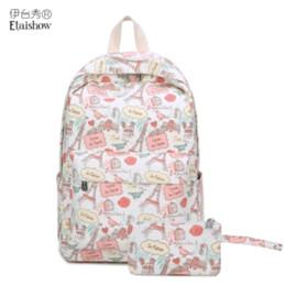 4b6031958e3 Printed Canvas Backpack Bag Australia - New small fresh canvas backpack  student bag female cartoon casual