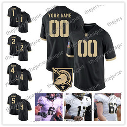 $enCountryForm.capitalKeyWord NZ - Army Black Knights Custom Any Name Any Number Stitched Black White #2 James Gibson 5 Kell Walker NCAA College Football Jersey