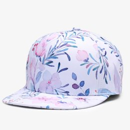44fa4473a0c 3D Printing Caps Hats Spring Summer Small Fresh Flowers Women Baseball Cap  Bone Cotton Adjustable Snapback 2018