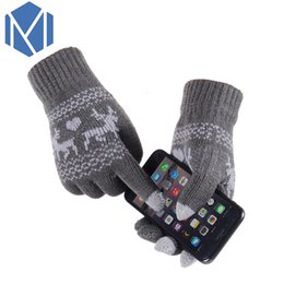 $enCountryForm.capitalKeyWord NZ - Miya Mona Unisex Girls Boy Warm Winter Thick Screen Sense Lanyard Glove Wool Knitted Deer Pattern Covered Fingers Mittens Gloves D18110806
