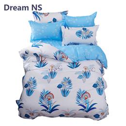 elegant twin bedding sets 2019 - AHSNME New Design Bedding Set Sky Blue Floral Bedspread Elegant Bed Sets Foreign Size King Queen 3pcs Bedlinens Adults K