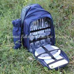 Wholesale Portable cutlery bag four people picnic bag picnic outdoor travel set camping multifunction camping cookware