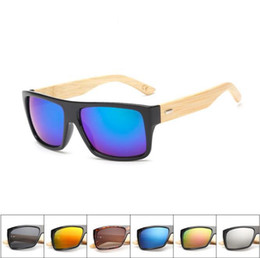 mens wood sunglasses 2018 - 10 COLOR Sunglasses Wooden Wood Mens Womens Retro Vintage Summer Glasses Shades Eyewear Wooden Frame Sunglasses KKA4811