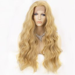 $enCountryForm.capitalKeyWord Australia - Blonde Wig for Women Synthetic Lace Front Wig Long Wavy Mixed 613 Wigs for Women Free Part Natural Hairline 22 Inch Natural Hair