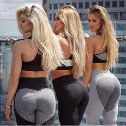 Ingrosso Le donne calde di vendita leggings di fitness che eseguono i pantaloni pantaloni femminili sexy sottili pantaloni di danza della signora Nuovo stile Spandex Materiale Yoga legging
