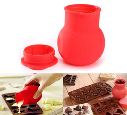 Discount chocolate panning - Silicone Chocolate Melting Pot Mould Butter Sauce Milk Baking Pan Practical Cup For Kitchen Cooking DDA236